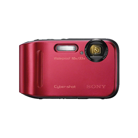 16.1 Megapixel T Series 4X Optical Zoom Cyber-shot Compact Camera (Red), , hi-res