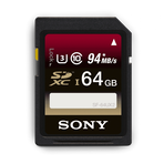 64GB SDXC UHS-1 Class 10 R94 W70 Memory Card UX Series, , hi-res