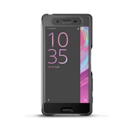 Style Cover Touch SCR50 for Xperia X (Graphite Black), , hi-res