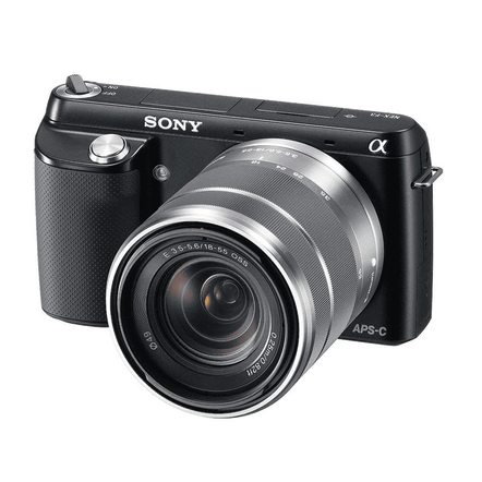 NEX-F3 (Black) with SEL1855 and SEL55210 Lens, , hi-res