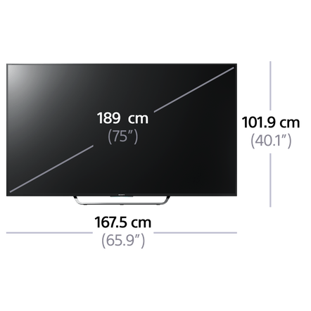 "75"" X8500C 4K Ultra HD LCD LED Smart 3D TV"
