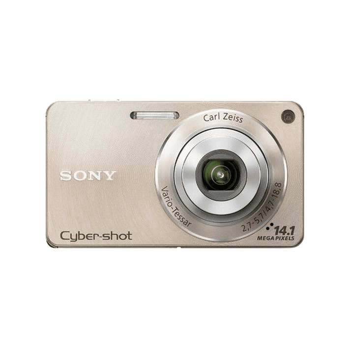 14.1 Megapixel W Series 4X Optical Zoom Cyber-shot Compact Camera (Gold), , product-image