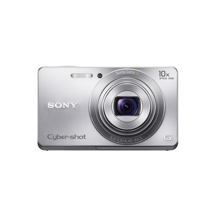 16.1 Megapixel W Series 10X Optical Zoom Cyber-shot Compact Camera (Silver)