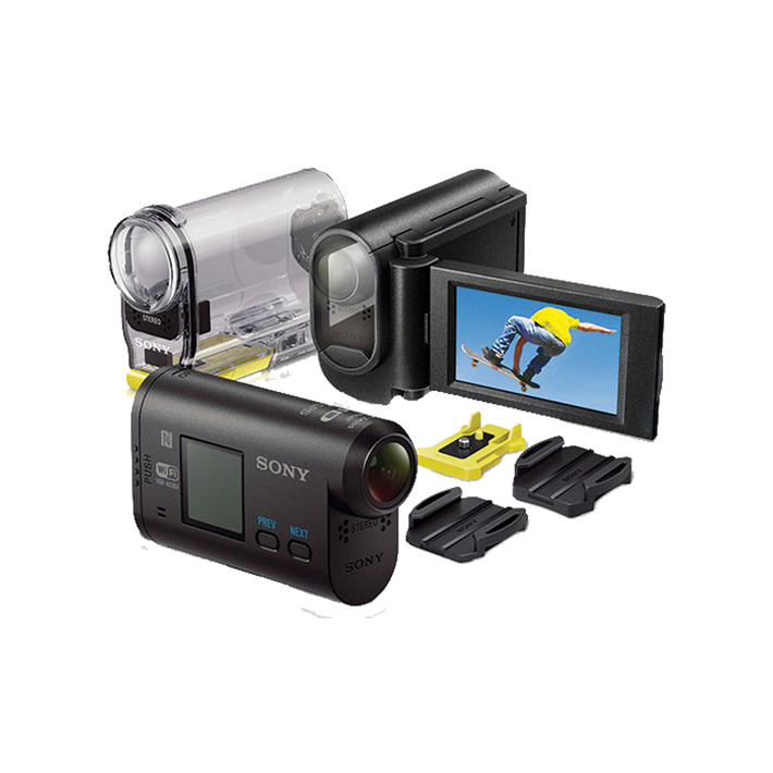 Full HD Action Cam with LCD Mount, , product-image