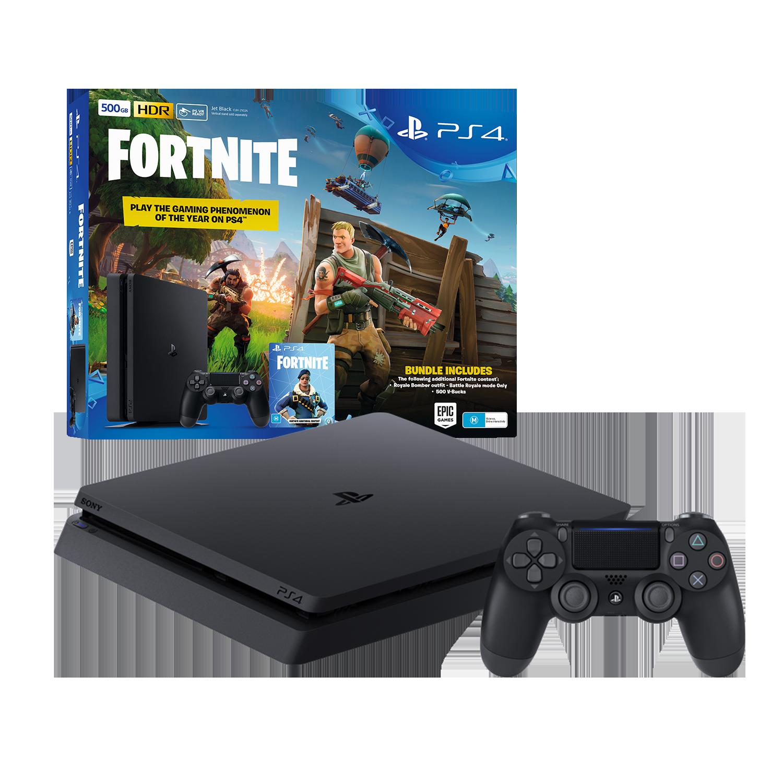Playstation4 Slim 500gb Console With Fortnite Bonus Digital Content Black