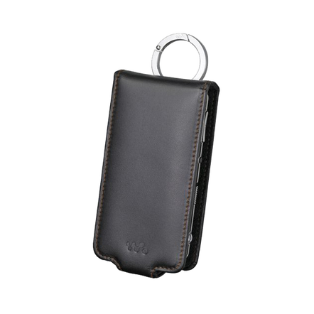 Leather Carrying Case for Video MP3 Walkman (Black), , hi-res