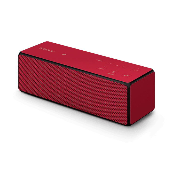 Portable Wireless Bass Speaker with Bluetooth (Red), , product-image