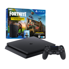 PlayStation4 Slim 500GB Console with Fortnite Bonus Digital Content (Black)