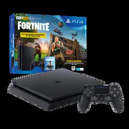 PlayStation4 Slim 500GB Console with Fortnite Bonus Digital Content (Black)
