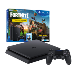PlayStation4 Slim 500GB Console with Fortnite Bonus Digital Content (Black), , hi-res