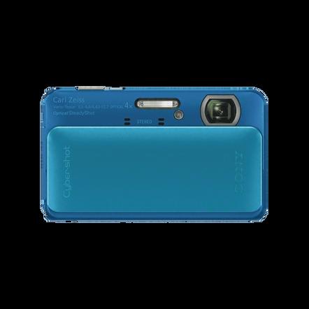 16.2 Megapixel T Series 4X Optical Zoom Cyber-shot Compact Camera (Blue), , hi-res
