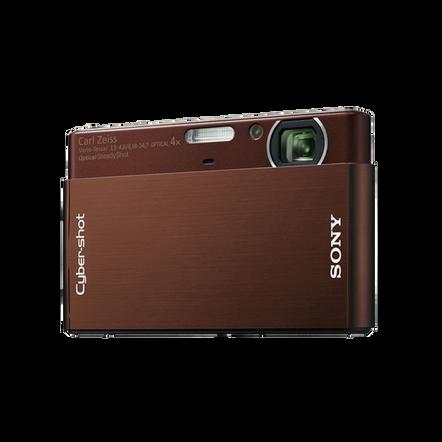 10.1 Megapixel T Series 4X Optical Zoom Cyber-shot Compact Camera (Brown), , hi-res
