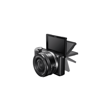 a5000 E-mount Camera with APS-C Sensor and 16-50 mm Zoom Lens, , hi-res