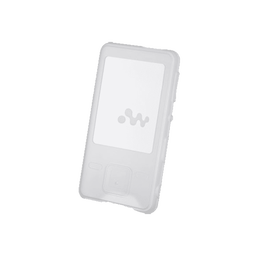 Silicone Carrying Case for Walkman MP3 Player (White)