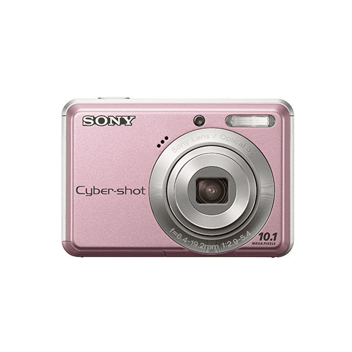 10.1 Megapixel S Series 3X Optical Zoom Cyber-shot Compact Camera (Pink), , product-image