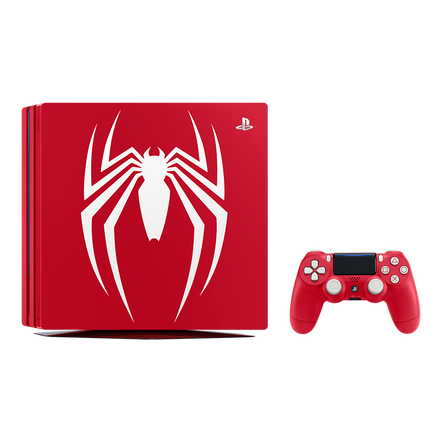 PlayStation 4 Pro 1TB Marvel's Spider-Man Limited Edition Console with a Game