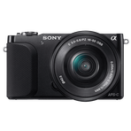 16.1 Megapixel Camera Body (Black) with SELP1650 Lens, , hi-res