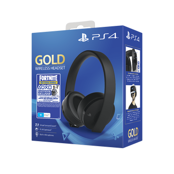 PlayStation4 Gold Wireless Stereo Headset - Fortnite (Black), , lifestyle-image