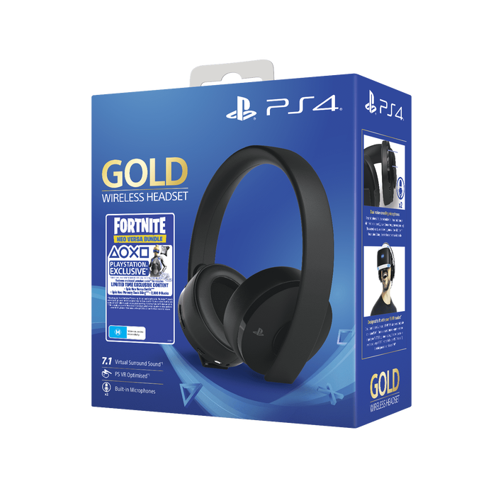 PlayStation4 Gold Wireless Stereo Headset - Fortnite (Black), , product-image
