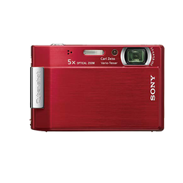 8.1 Megapixel T Series 5X Optical Zoom Cyber-shot Compact Camera (Red), , hi-res