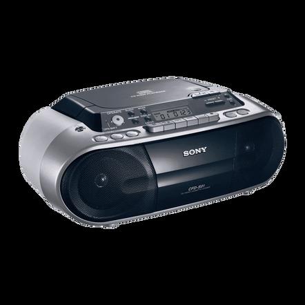 CD Radio Cassette Player (Silver), , hi-res