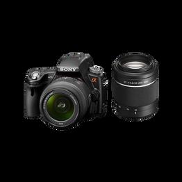 A55 Digital SLT 16.2 Mega Pixel Camera with SAL1855 and SAL55200 Lens