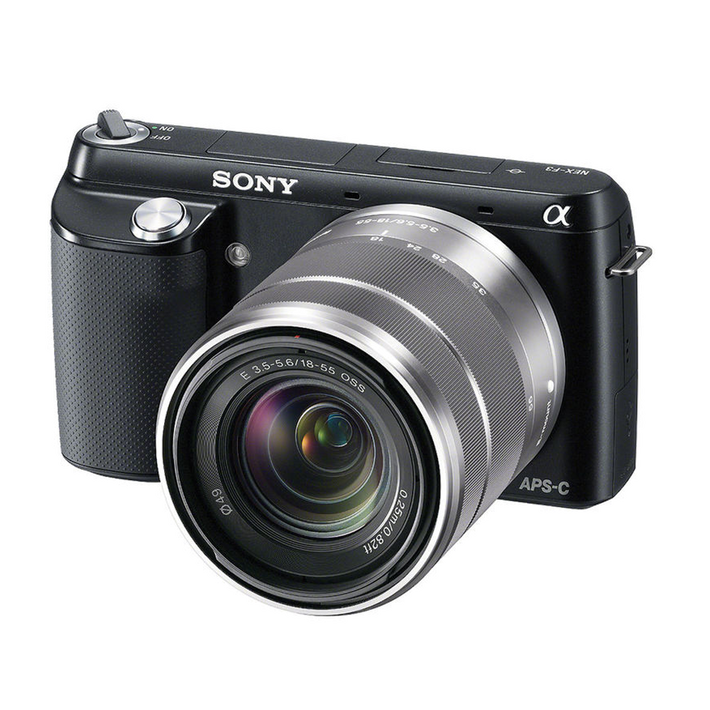 NEX-F3 (Black) with SEL1855 and SEL55210 Lens, , product-image