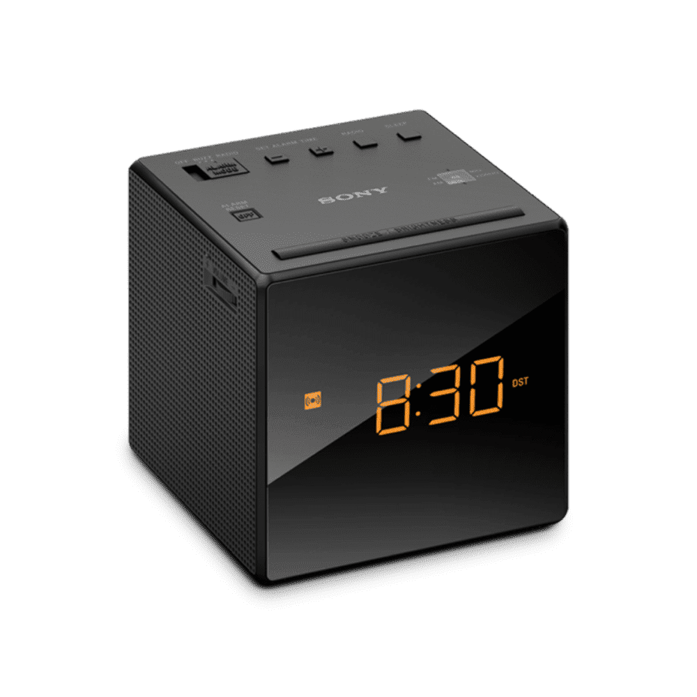 Single Alarm Clock Radio (Black), , product-image