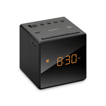Single Alarm Clock Radio (Black), , lifestyle-image