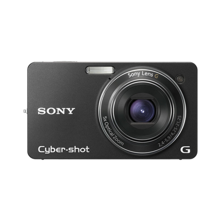 10.2 Megapixel W Series 5X Optical Zoom Cyber-shot Compact Camera (Black)