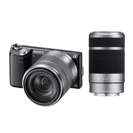 NEX5 16.1 Mega Pixel Camera (Black) with SEL1855 and SEL55210 Lens