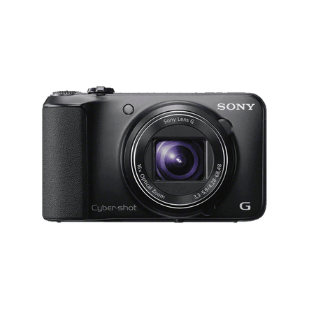 16.1 Megapixel H Series 16X Optical Zoom Cyber-shot Compact Camera (Black), , hi-res