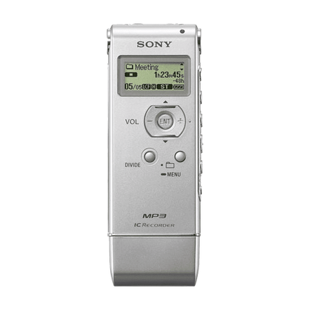 1GB MP3 Digital Voice IC Recorder (Silver)