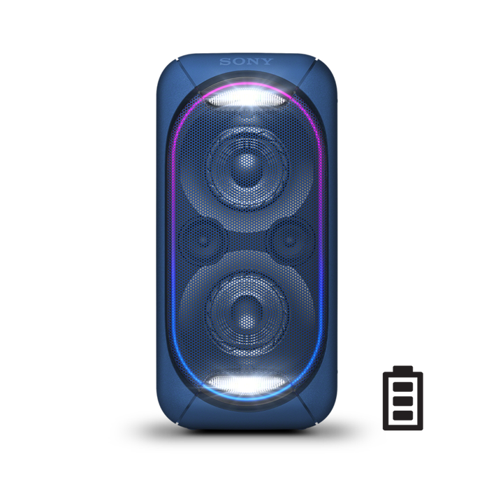EXTRA BASS High Power Home Audio System with Battery (Blue), , product-image