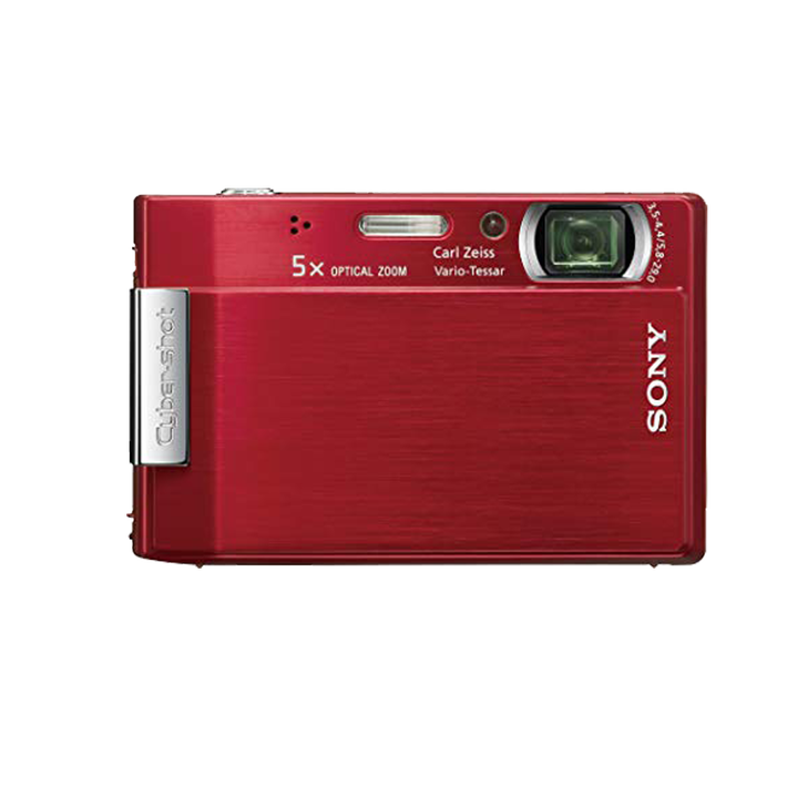 8.1 Megapixel T Series 5X Optical Zoom Cyber-shot Compact Camera (Red), , product-image