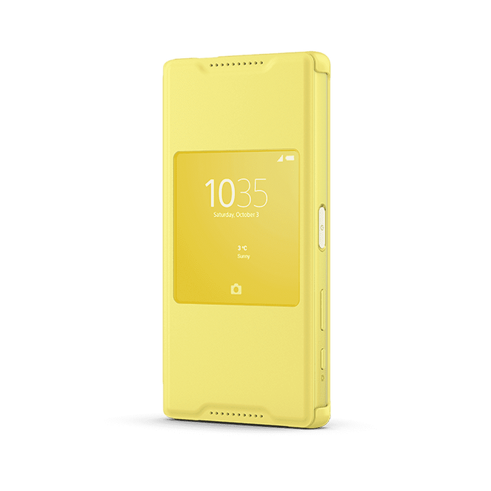 Smart Cover Stand SCR44 for Xperian Z5 Compact (Yellow), , product-image