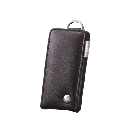 Leather Carrying Case for Walkman Video MP3 Players (Black)