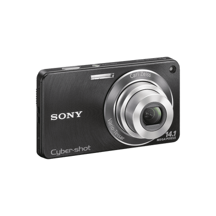 14.1 Megapixel W Series 4X Optical Zoom Cyber-shot Compact Camera (Black), , hi-res