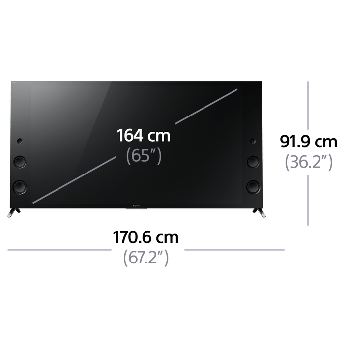 """65"""" X9300C 4K TV Ultra HD with android TV, , product-image"""