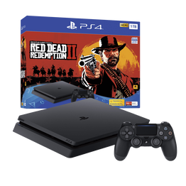 PlayStation4 Slim 1TB Console with Red Dead Redemption 2, , hi-res