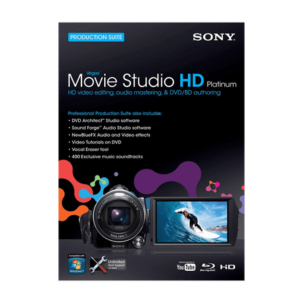 Vegas Movie Studio Hd Platinum 10 Production Suite, , hi-res
