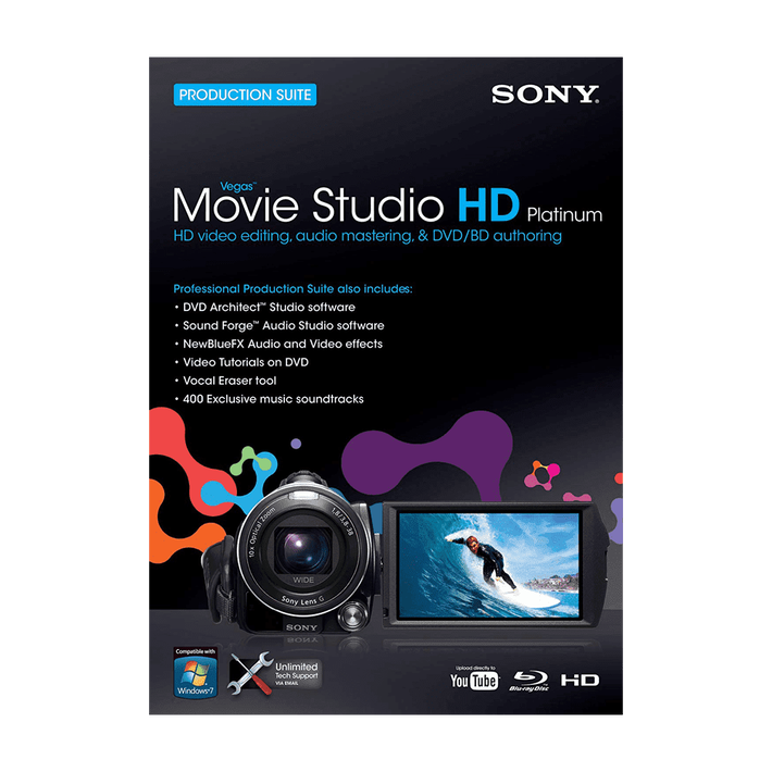 Vegas Movie Studio Hd Platinum 10 Production Suite, , product-image