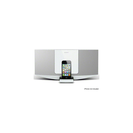 Hi-Fi Sound System with iPhone/iPod Dock (White), , hi-res