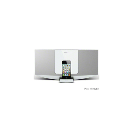 Hi-Fi Sound System with iPhone/iPod Dock (White)