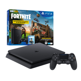 PlayStation4 Slim 500GB Console with Fortnite Bonus Digital Content (Black), , lifestyle-image
