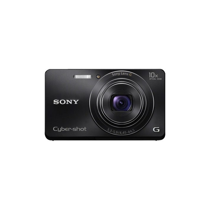 16.1 Megapixel W Series 10X Optical Zoom Cyber-shot Compact Camera (Black), , product-image