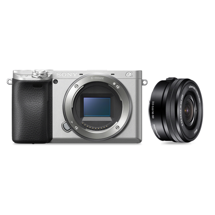 a6400 Premium Digital E-mount APS-C Camera Kit with 16-50mm Lens (Silver)