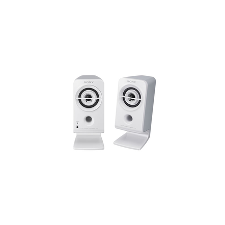 Desktop / Multimedia Portable Speakers (White)