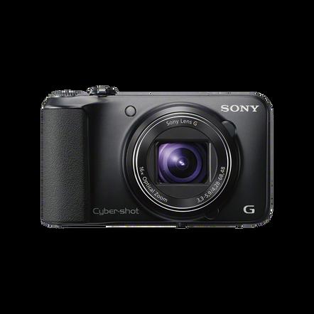 16.1 Megapixel H Series 16X Optical Zoom Cyber-shot Compact Camera (Black), , hi-res