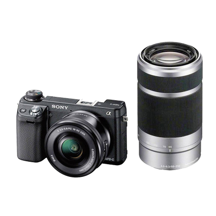 NEX-6 16.1 Mega Pixel Camera with SELP1650 and SEL55210 Lens, , hi-res
